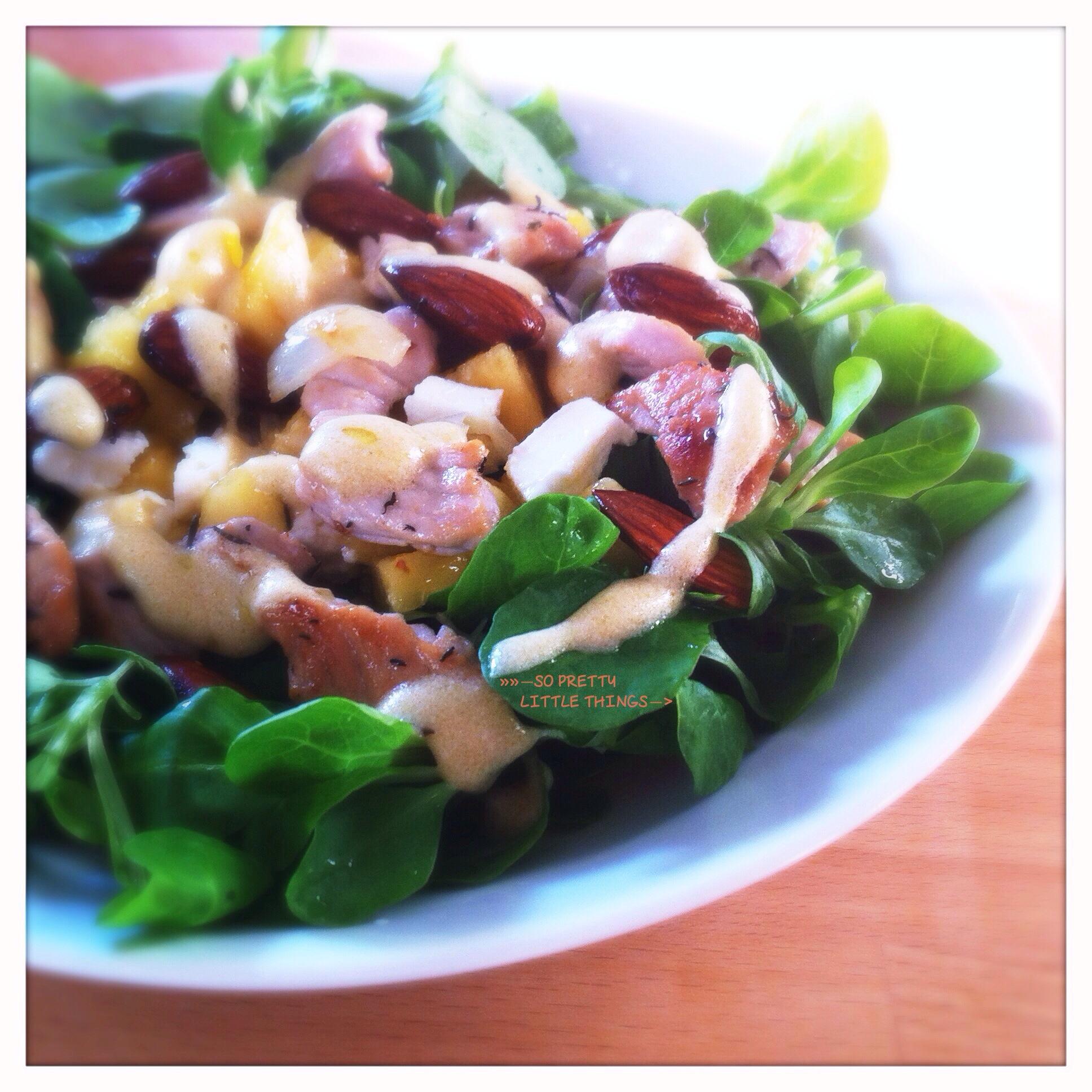 Salade poulet et pêche (gluten free)