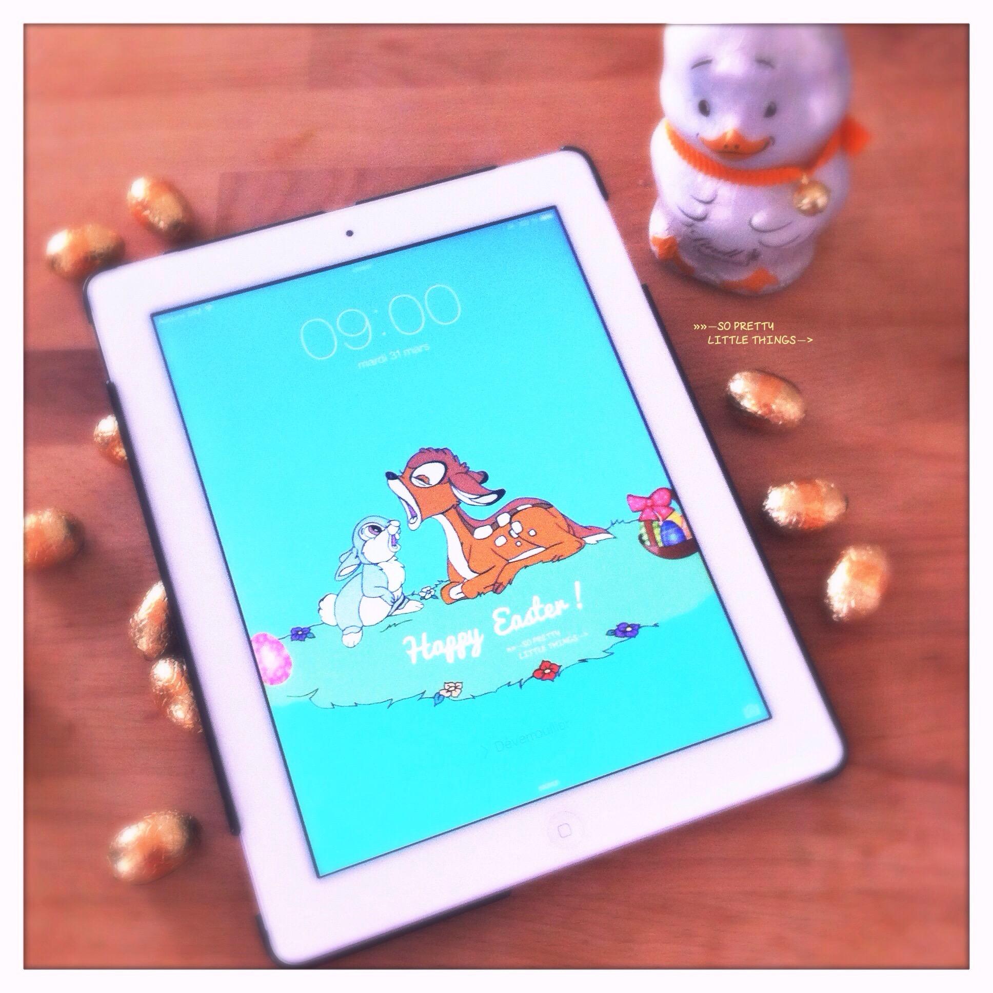 Fond d'écran, wallpaper Bambi et Panpan. Easter