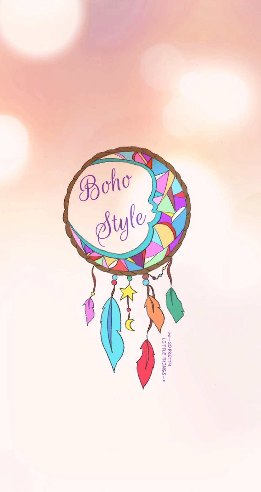 Iphone wallpaper dreamcatcher - Fond D 233 Cran Boho Style So Pretty Little Things